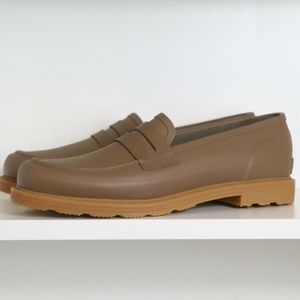 Hunter Shoes - HUNTER Original Rubber Penny Loafer Light Khaki